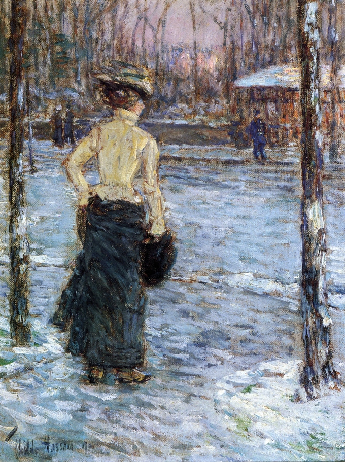 Winter, Central Park, 1901